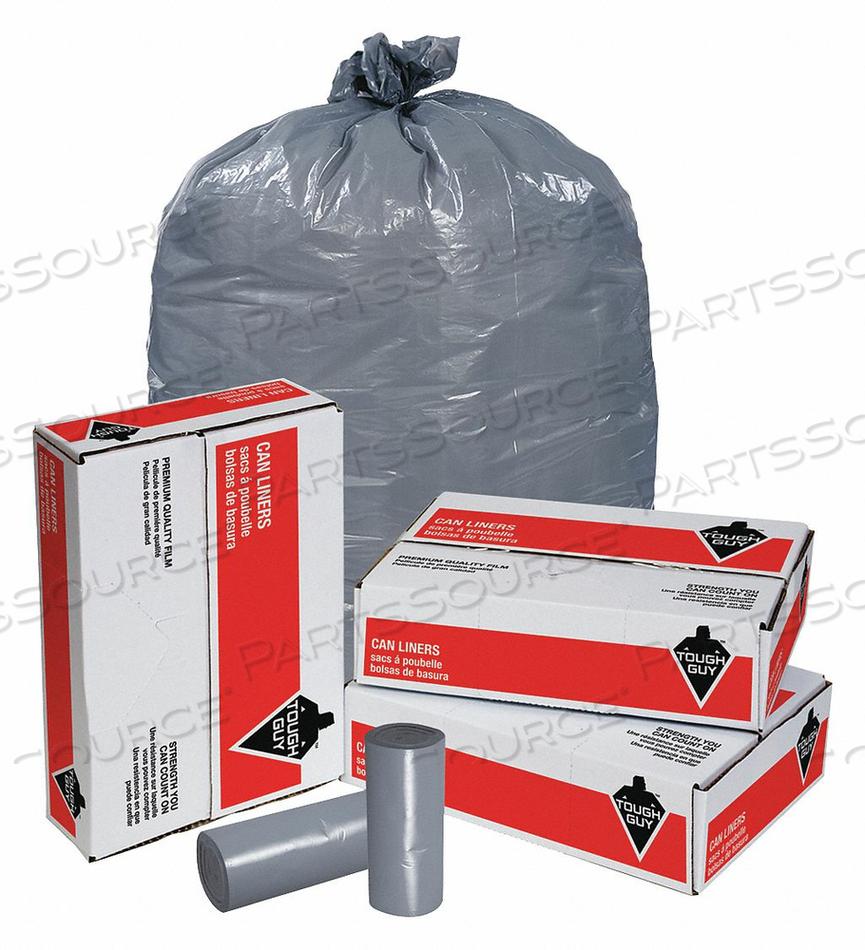 TRASH BAGS 20 TO 30 GAL. GRAY PK100 by Tough Guy
