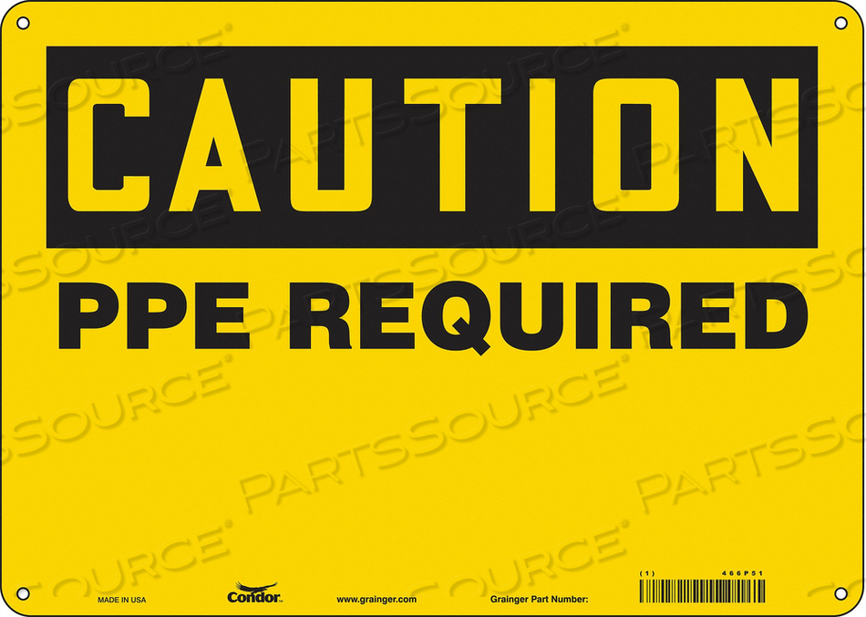 SAFETY SIGN 10 H 10 W PLASTIC by Condor