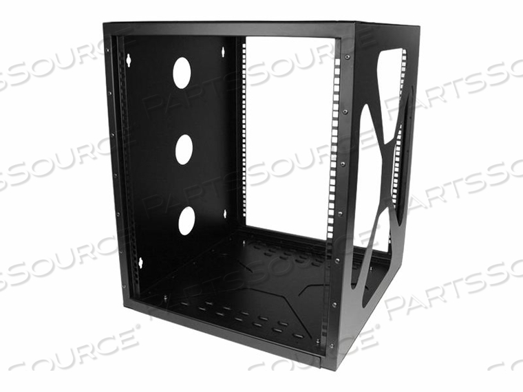 "STARTECH.COM 12U 19IN WALL MOUNT SIDE MOUNT OPEN FRAME RACK CABINET - WALL MOUNT CABINET - BLACK - 12U - 19"" by StarTech.com Ltd."