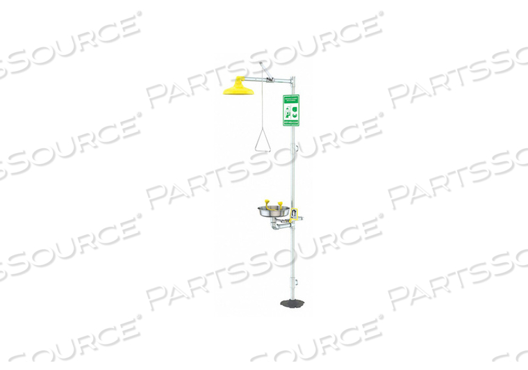 DRENCH SHOWER YELLOW SS 94-3/4 IN H by Condor