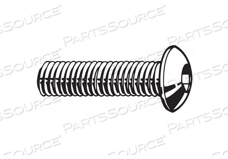 SHCS BUTTON M8-1.25X25MM STEEL PK1000 by Fabory