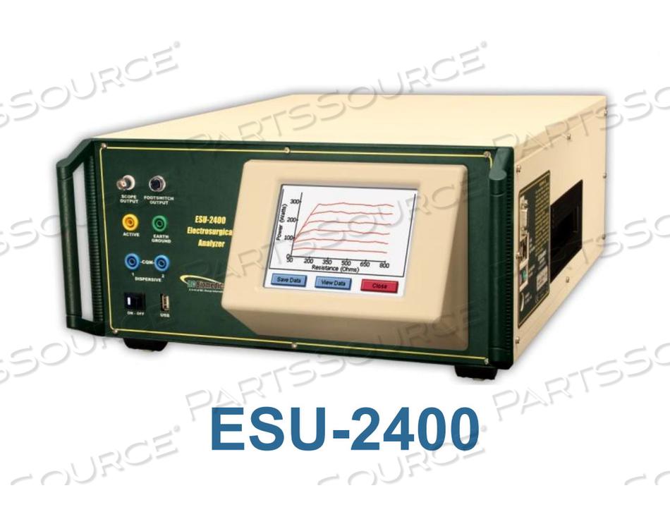 ESU ANALYZER, 2 TO 700 MV RMS, 14 BITS, 64 MSPS, +/-1% ACCURACY, 20 TO 7000 MA RMS, 500 W, 7.8 X 15 X 22.5 IN by BC Group International, Inc. (BC Biomedical)