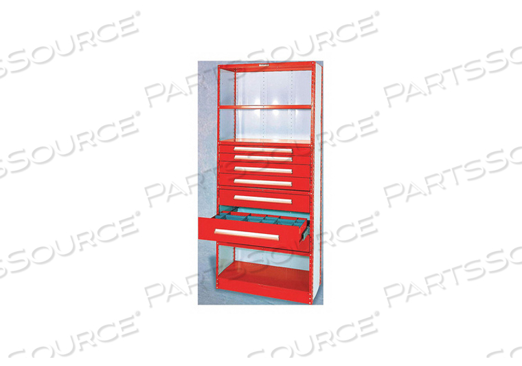 METAL SHELVING STEEL CHERRY RED 18 GA. by Equipto