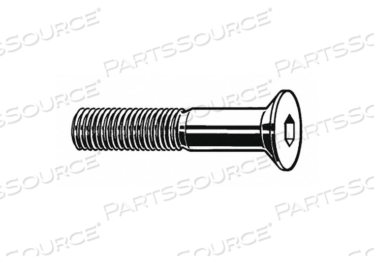 SHCS FLAT M6-1.00X60MM STEEL PK800 by Fabory