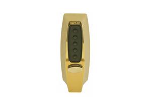 PUSH BUTTON LOCKSET 7000 BRIGHT BRASS by Kaba