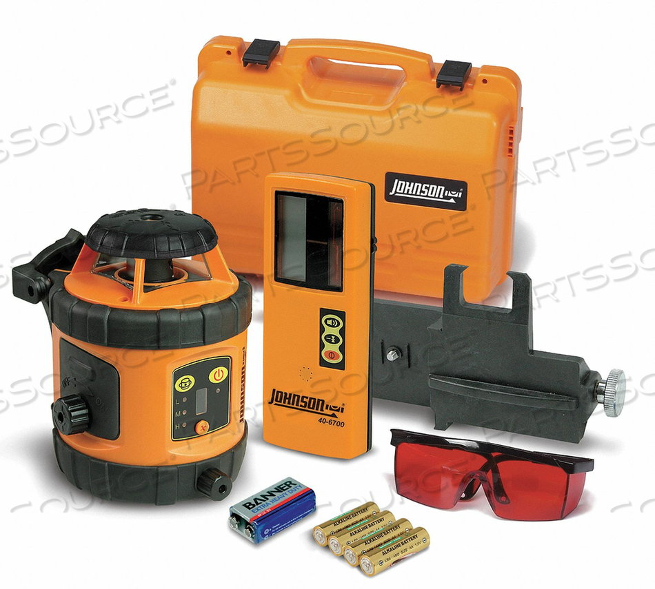 ROTARY LASER LEVEL INT/EXT RED 800 FT. by Johnson Level