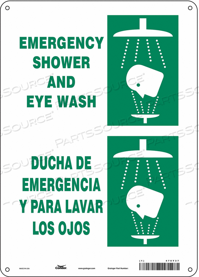 J6979 SAFETY SIGN 10 W X 14 H 0.004 THICK by Condor