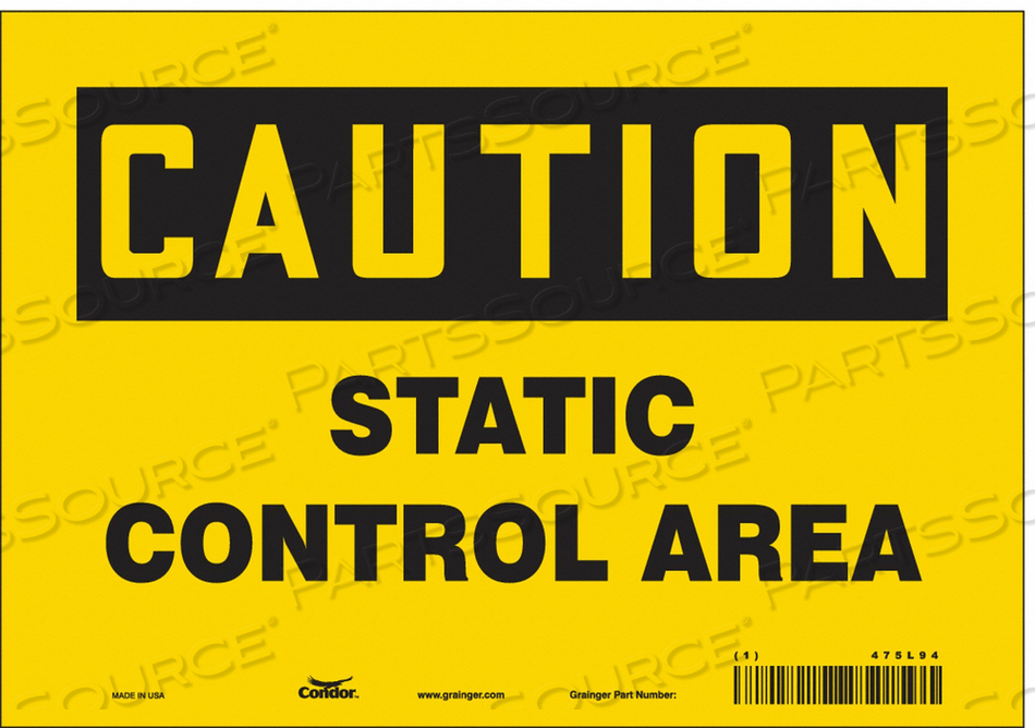 DANGER SIGN 10 WX7 H 0.004 THICKNESS by Condor