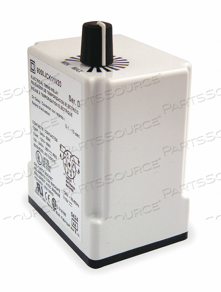 TIME DELAY RLAY 120VAC 10A DPDT 0.3 SEC. by Square D