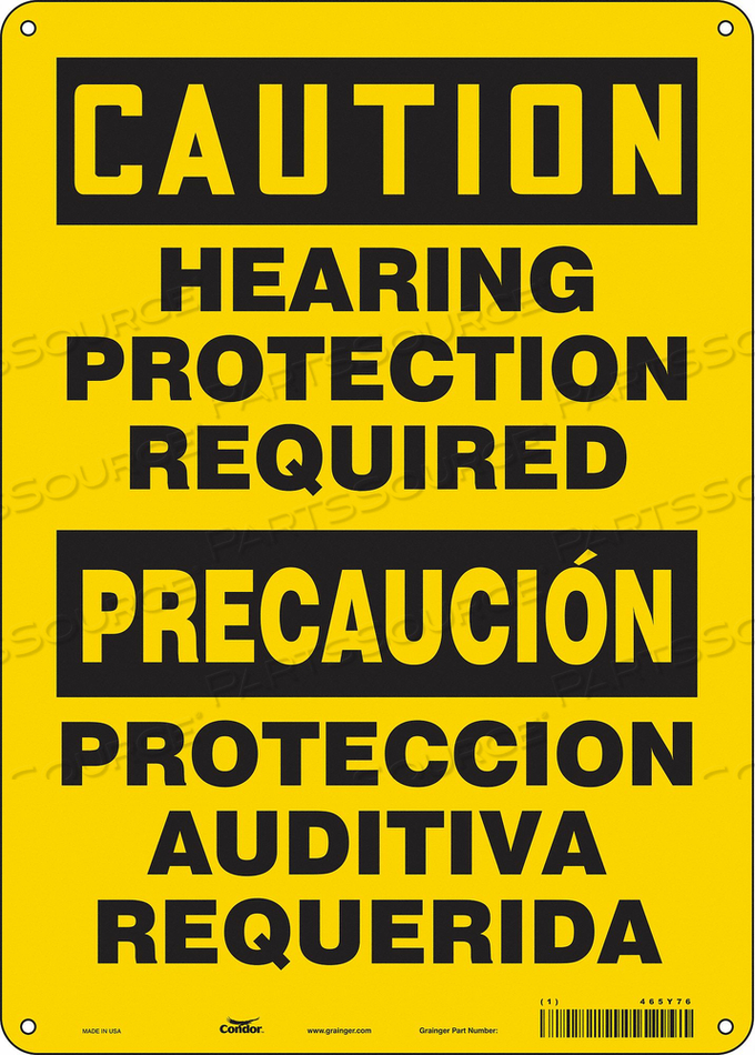 K2003 SAFETY SIGN 10 W 14 H 0.055 THICKNESS by Condor
