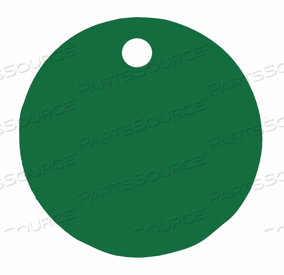 BLANK TAG ROUND GREEN PK5 by C.H. Hanson