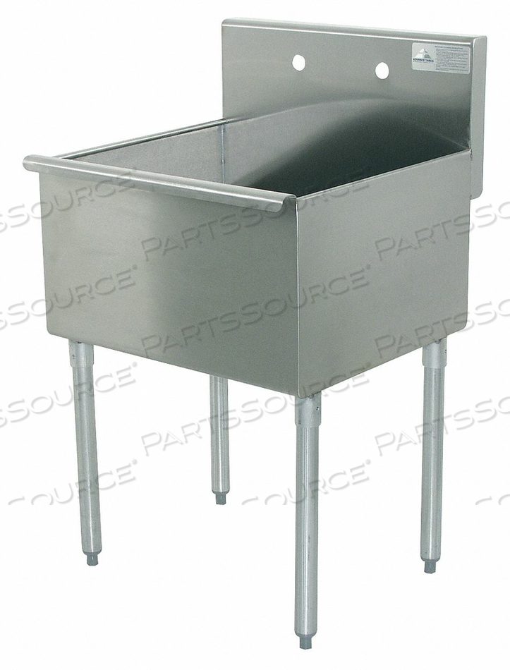 UTILITY SINK STAINLESS STEEL 18 IN L by Advance Tabco