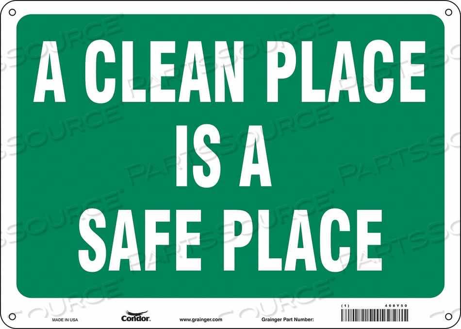 SAFETY SIGN 14 10 0.055 THICKNESS by Condor