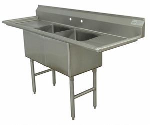 SCULLERY SINK WITHOUT FAUCET 72 IN L by Advance Tabco