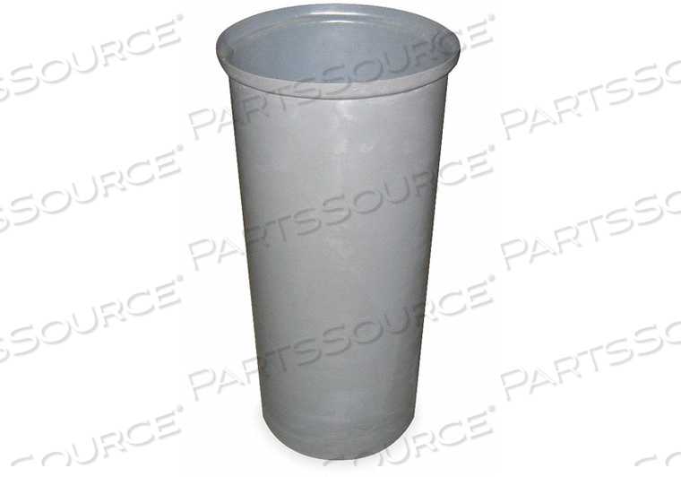 TRASH CAN ROUND 11 GAL. GRAY by Tough Guy