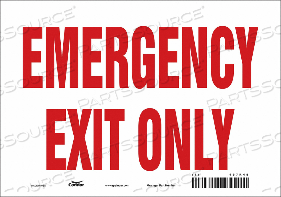 J6981 SAFETY SIGN 7 X10 VINYL by Condor