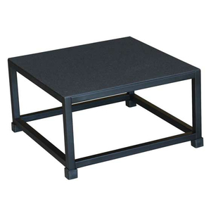 """PLYO BOX 12"""", SQUARE 21 X 21 X 12, ALL STEEL. BLACK by Ideal Products"""