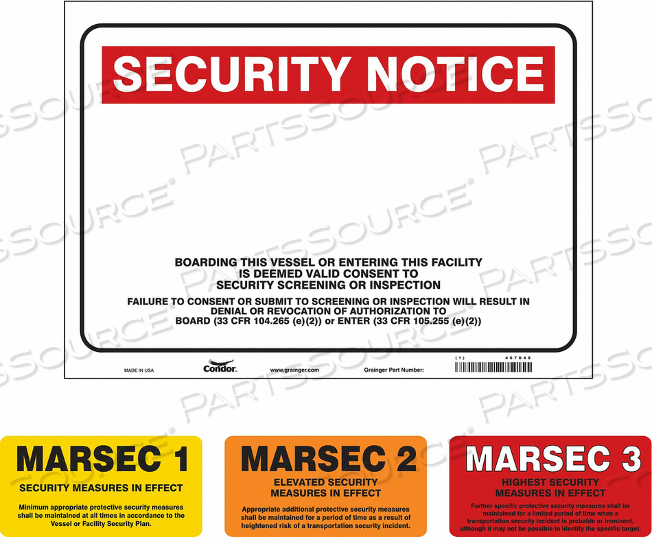 SECURITY SIGN 36 W 24 H 0.128 THICKNESS by Condor