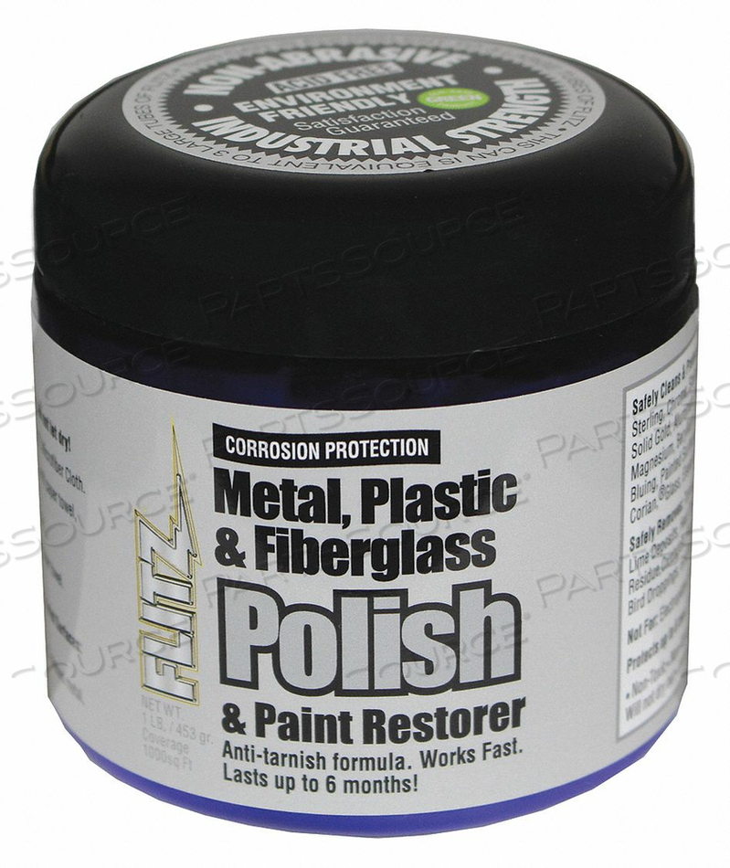 FIBERGLASS PASTE POL. METAL PLAST 1 LB. by Flitz Premium Polishing Products