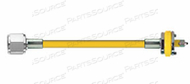 CONDUCTIVE HOSE ASSEMBLY, 1/4 IN ID, AIR, YELLOW, DISS HEX NUT X MALE CONNECTION, 1 FT by Amvex (Ohio Medical, LLC)