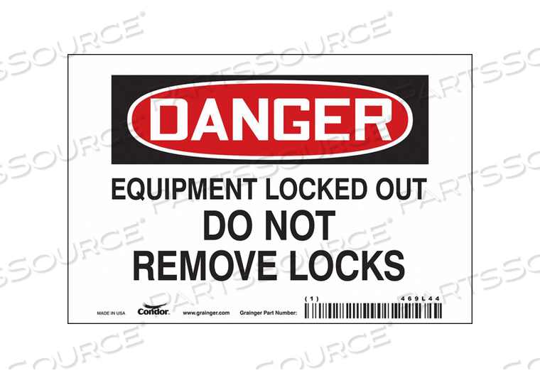 SAFETY SIGN 6 W 4 H 0.034 THICKNESS by Condor