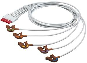 3 FT 5 LEAD PINCH/GRABBER ECG LEADWIRE by Philips Healthcare (Medical Supplies)
