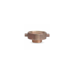 FIRE HOSE FEMALE/MALE REDUCER ADAPTER - 2-1/2 IN. NH FEMALE X 3/4 IN. GH MALE - BRASS by Moon American