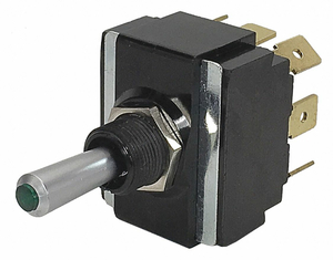 TOGGLE SWITCH DPDT 20A @ 12V QUIKCONNCT by Carling Technologies