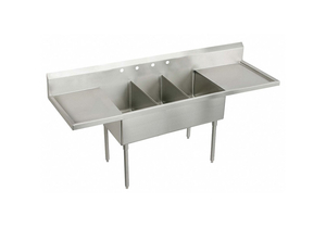 SCULLERY SINK WITHOUT FAUCET 120 IN L by Elkay