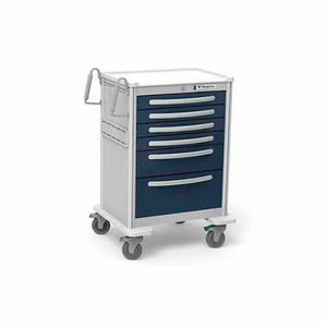 UNICART, 6 DRAWER LIGHT GRAY EXTERIOR/CHARCOAL DRAWERS, KEY LOCK by Waterloo Healthcare