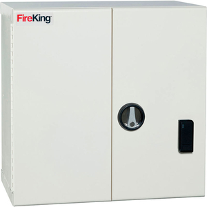 """MEDICAL STORAGE CABINET WITH DIGITAL CARD READER, 24-1/8""""W X 14-3/16""""D X 24-1/16""""H, WHITE by Fire King"""