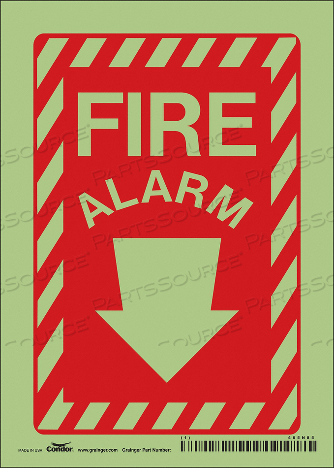 SAFETY SIGN 5 WX14 H 0.032 THICKNESS by Condor