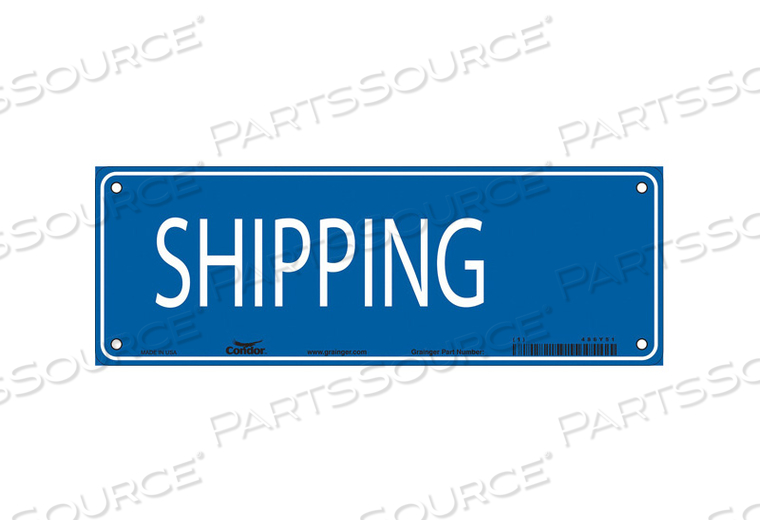 SAFETY SIGN 20 W 7 H 0.004 THICKNESS by Condor