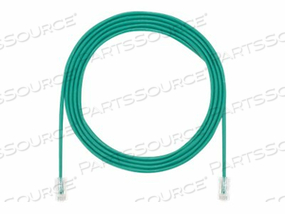 PANDUIT TX5E-28 CATEGORY 5E PERFORMANCE - PATCH CABLE - RJ-45 (M) TO RJ-45 (M) - 9 FT - UTP - CAT 5E - IEEE 802.3AF/IEEE 802.3AT - HALOGEN-FREE, SNAGLESS, STRANDED - GREEN by Panduit