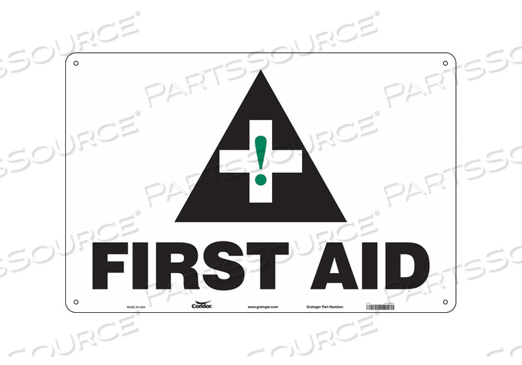 FIRST AID SIGN 36 WX24 H 0.032 THICK by Condor