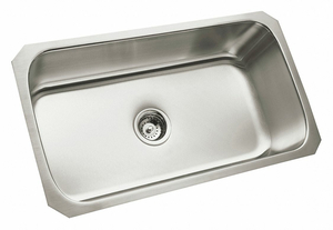 MOUNT SINK 1 HOLES SILVER RECTANGULAR by Sterling