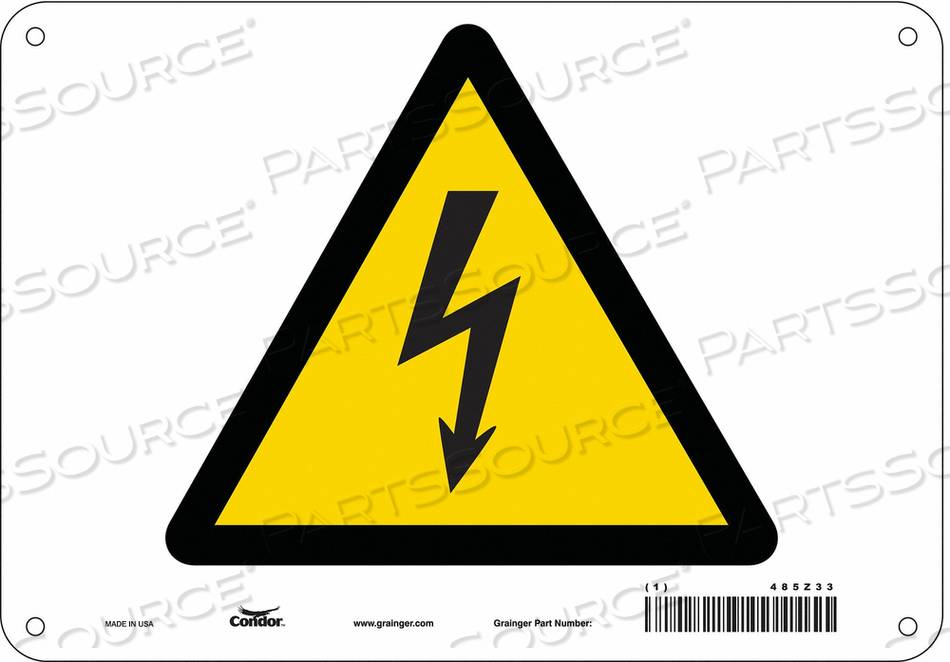 ELECTRICAL SIGN 10 W 7 H 0.055 THICK by Condor
