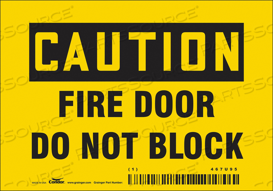 SAFETY SIGN 3.5 X5 VINYL by Condor