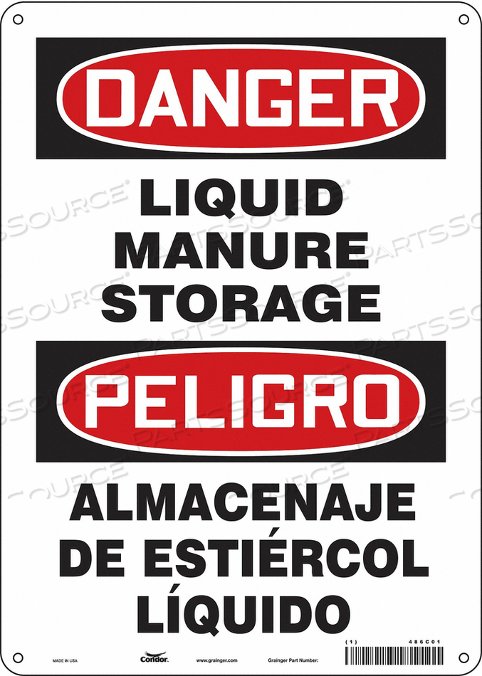 CHEMICAL SIGN 10 W 14 H 0.055 THICKNESS by Condor