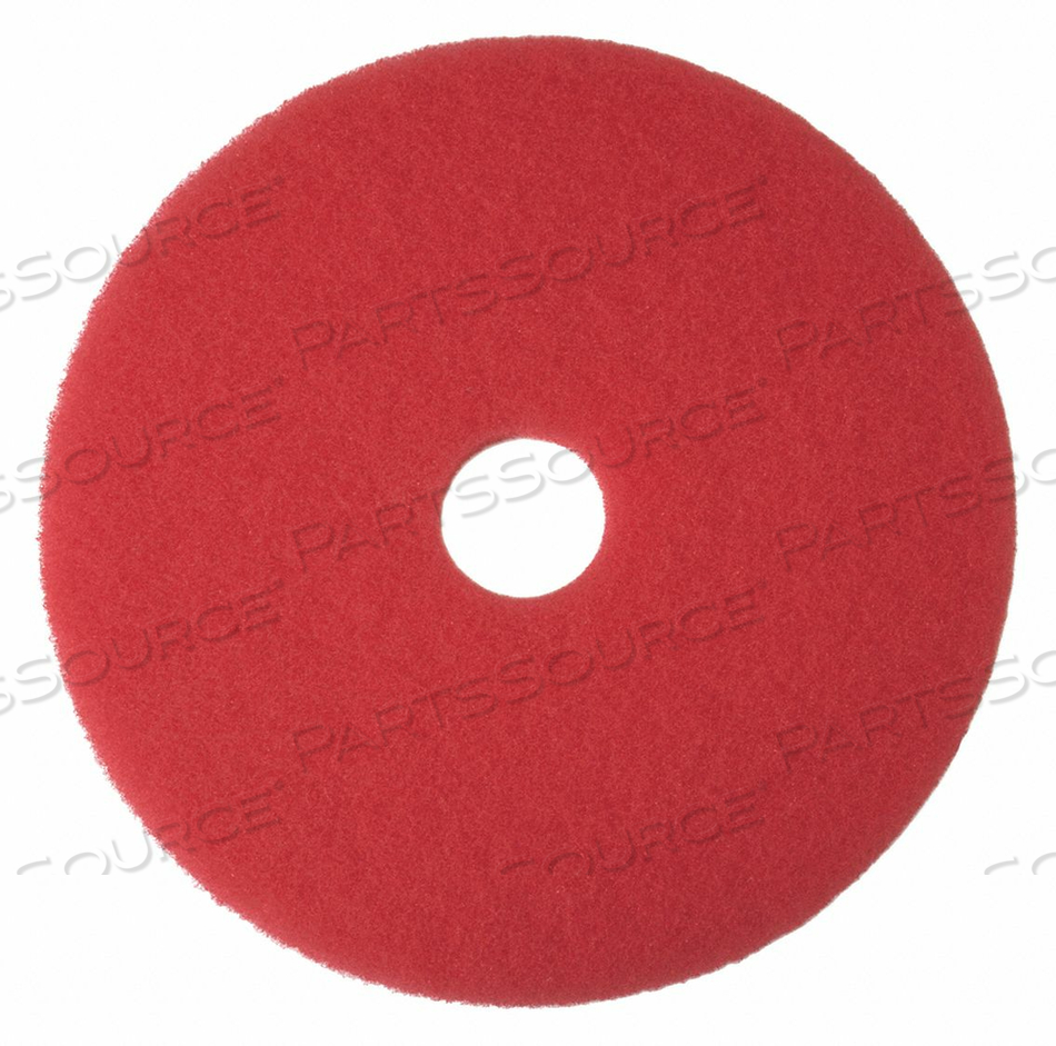 BUFFING PAD RED SIZE 17 ROUND PK5 by Tough Guy