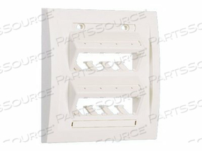 PANDUIT MINI-COM ULTIMATE ID EXECUTIVE SERIES FACEPLATE - FACEPLATE - OFF WHITE - 8 PORTS