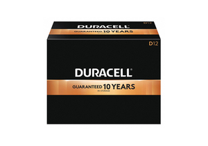 BATTERY, D, ALKALINE, 1.5V, 17000 MAH (PACK OF 12) by Duracell