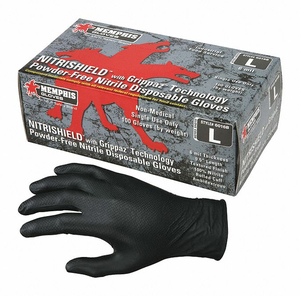 DISPOSABLE GLOVES NITRILE XL PK100 by MCR Safety