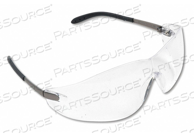 SAFETY GLASSES CHRM FRAME CLR LENS PK12 by MCR Safety