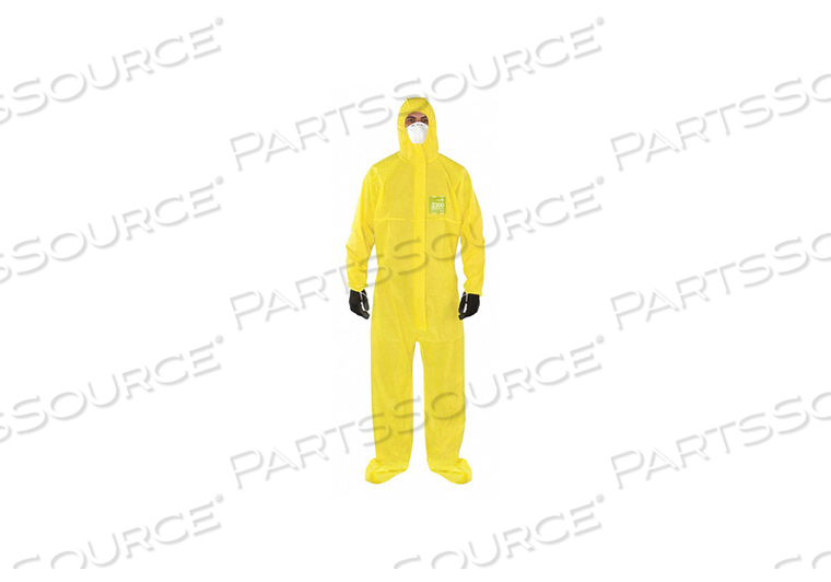 J4515 HOODED COVERALL ATTACHED SOCKS 2XL PK25 by Ansell Healthcare