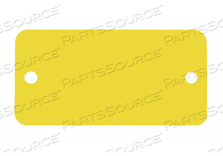 BLANK TAG RECTANGLE YELLOW PK5 by C.H. Hanson