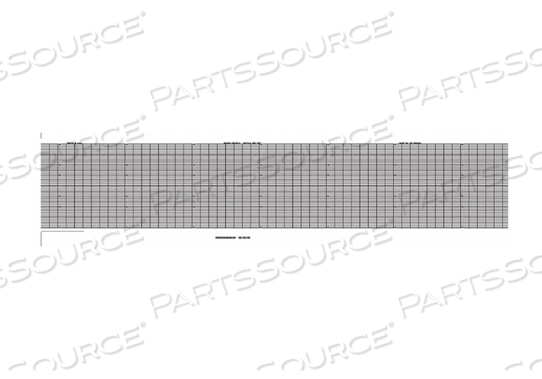 STRIP CHART FANFOLD RANGE 0 TO 8 53 FT by Graphic Controls, LLC