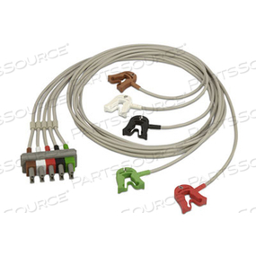 5 LEAD SAFETY AAMI GRABBER ECG CABLE