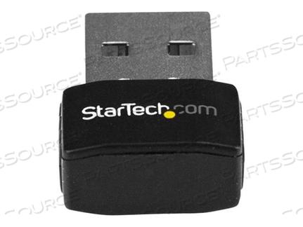 STARTECH.COM USB WI-FI ADAPTER - AC600 - DUAL-BAND NANO WIRELESS ADAPTER - NETWORK ADAPTER - USB 2.0 - 802.11AC - BLACK by StarTech.com Ltd.