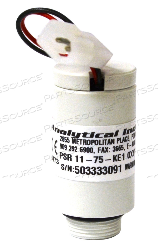 SENSOR, 0.9 IN DIA, 3 IN WIRE 2 POSITION PLUG, 0 TO 100% OXYGEN, GRAY, 10 TO 15.5 MV SIGNAL OUTPUT, 15 SEC RESPONSE, 0 TO 45 DEG C, 0 TO 99%, 2.4